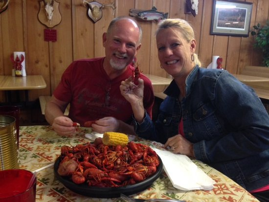 DeRidder, LA: Starting on our 5lbs of crawfish!