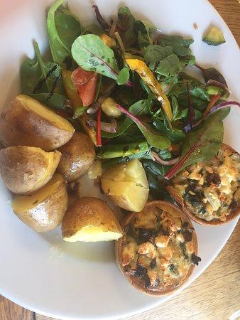 Theale, UK: Feta, chard & olive tarts.