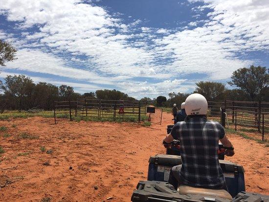 Kings Canyon, أستراليا: Quad biking