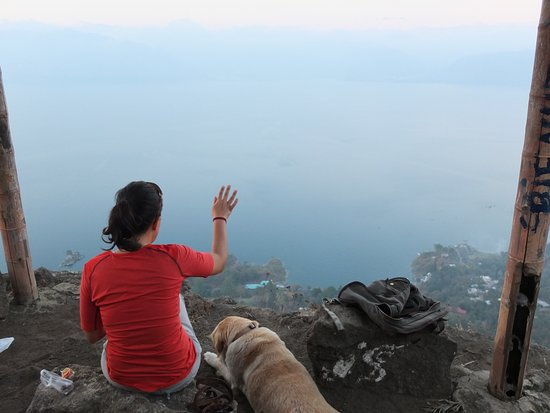 Solola, Guatemala: Lookout point became a little hazy, it depends on the day