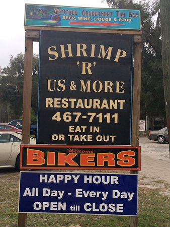 Welaka, FL: A group of 26 of us drove here for a fantastic buffet of several different kinds of shrimp, chic