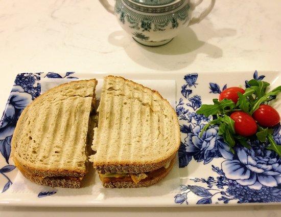 Wilton, CT: Organic Chicken Avocado Sandwich.