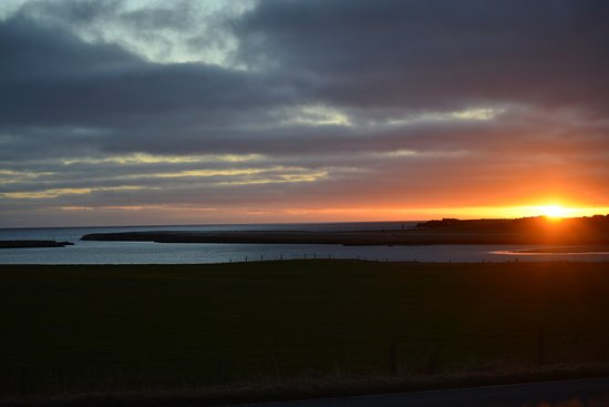 Shetland Wildlife: Sun rise on our way out for the day