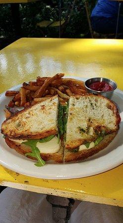 Hudson, NY: Basil Tomato Mozzarella Sandwich