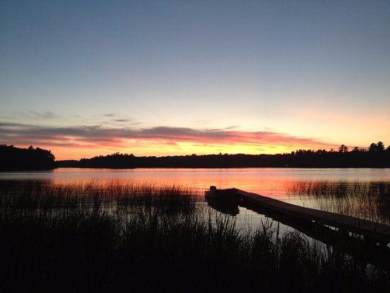 Rhinelander, WI: Never get tired of the beautiful Lake Thompson sunsets.