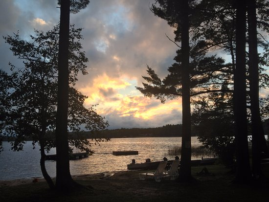 Rhinelander, WI: Dreaming of a summer sunset on Lake Thompson