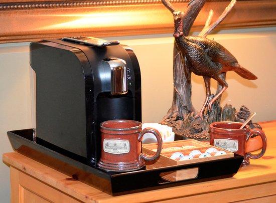 Bethlehem, Нью-Гэмпшир: Wild Turkey's coffee station