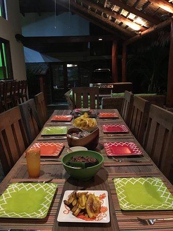 Tola, Νικαράγουα: Casa Sara Dinner Outside