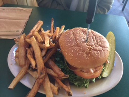 My Buddy's Place: Bacon Burger...great fries...home made.