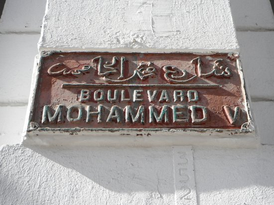 The Original Preserved French Colonial Street Sign In French And