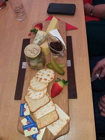 Manston, UK: Cheese board