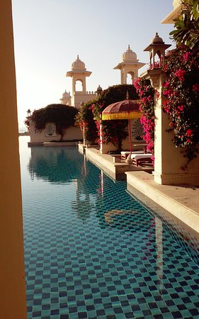 The Oberoi Udaivilas: View of our private patio.
