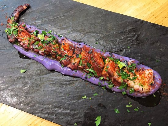 Octopus with purple potatoes - Picture of Crudo Bar ...