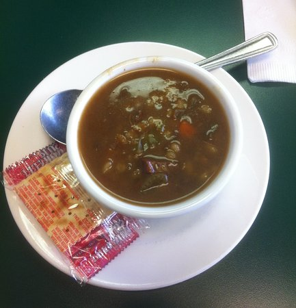 Airport Coffee Shop: Beef Barley Soup