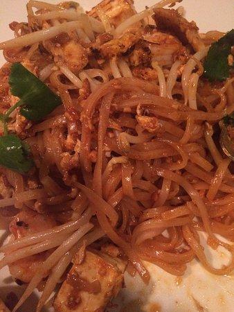 Basil Thai Restaurant: Basil Thai has wonderful pad Thai noodles -- as photographed on their menu.