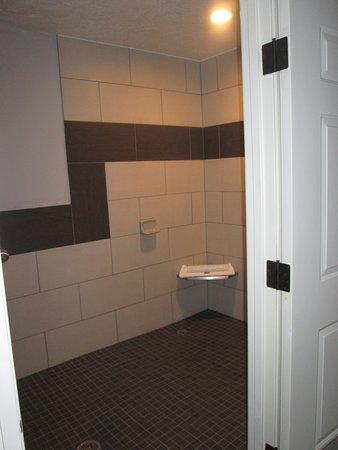 Best Western Corvallis: disabled bath has huge floor, 2 head showers, floor drains, seat, low water toilet