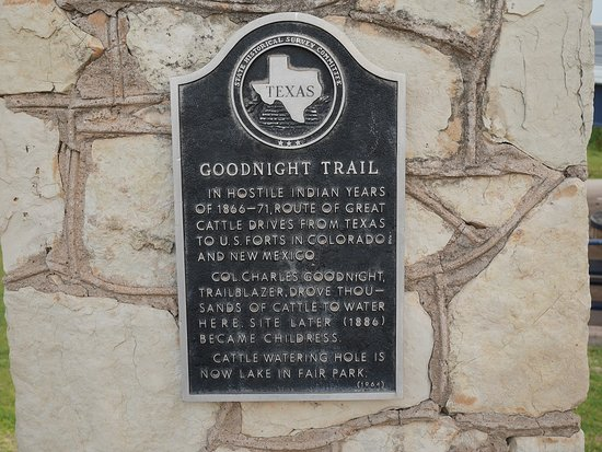 Childress, TX: Historical Marker in Park
