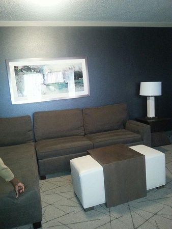 Emby Suites By Hilton Atlanta Galleria Living Room Area With Tv And Table W