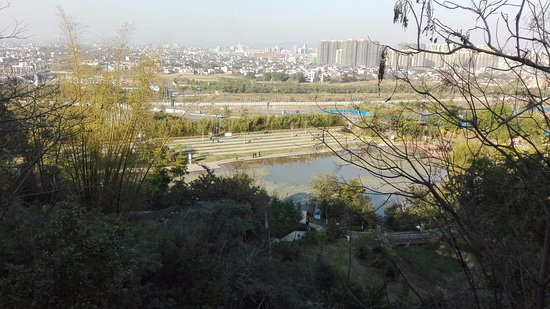 View of Xingning from the Shen Guang Shan park.