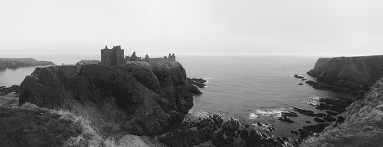 Stonehaven, UK: cold winter's day.