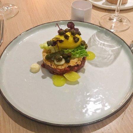 Medemblik, Países Baixos: Prima maaltijd in de kop van Noord Holland, gerechten zijn mooi opgemaakt, 10 kleine gerechtjes