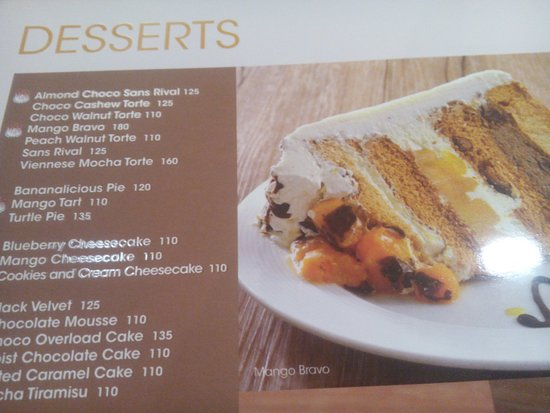 The Only Interesting Page From Their Menu Picture Of Contis