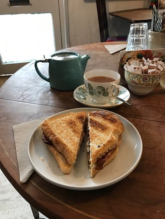 Ardvasar, UK: Sally's Amazing Peanut Butter and Bacon Toasted Sandwich