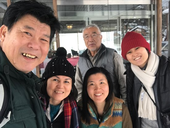 Omachi, Japan: with Miss Wakako and her father