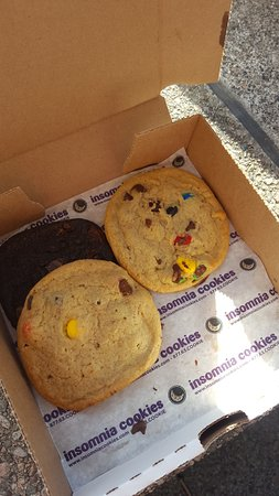 Insomnia Cookies: We didn't have the self discipline to take a photo before tucking in so there are some missing!