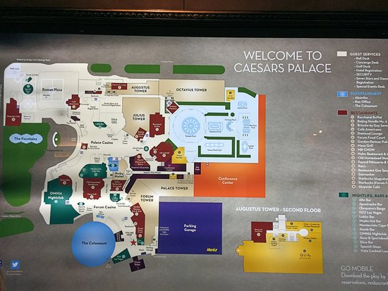 Caesars Palace Forum Shops Map on