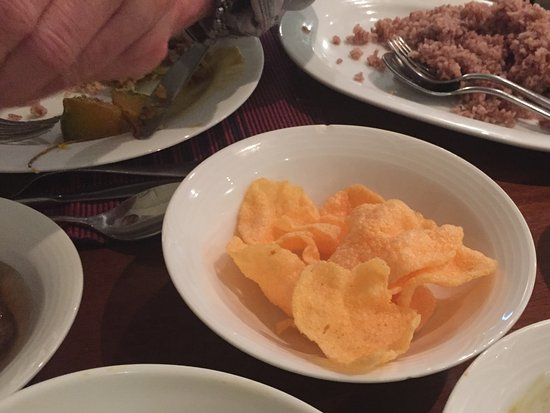 Langdale by Amaya: They called these papadums even though I insisted they were prawn crackers!