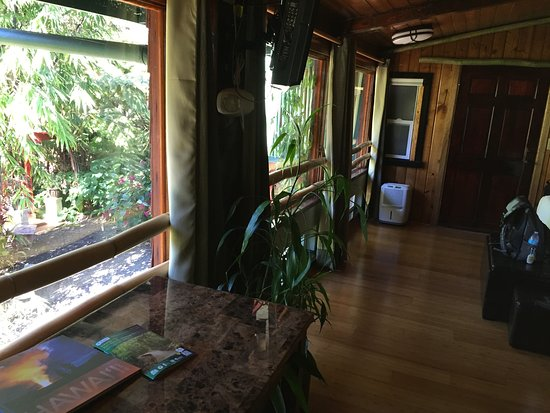 Chalet Kilauea: Broad windows in 103: a good view looking in and out