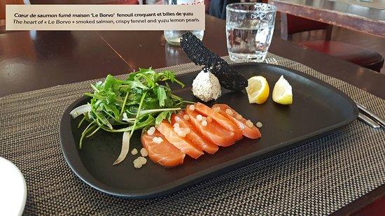 Brasserie Le Cap : Une entrée fraicheur à base de saumon fumé maison. Très bon.