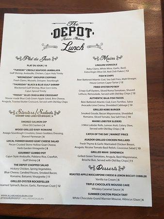 Auburn, AL: menu