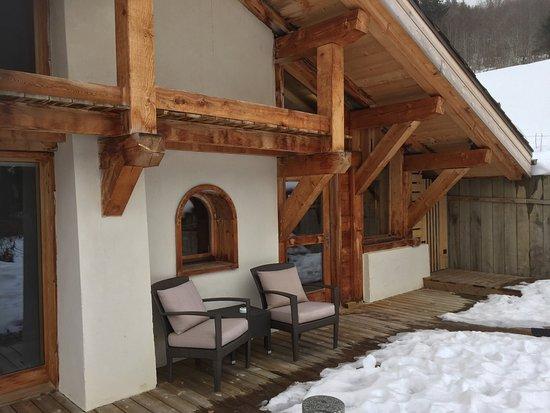 Relais & Chateaux Flocons de Sel: L'espace détente et la salle de restaurant