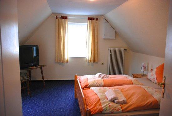 Bad Munstereifel, Germany: Dies ist Zimmer 5. Eine ganze Etage unter dem Dach mit bestem Blick auf die Erft.