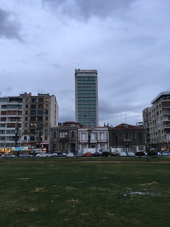 Ege Palas: View of hotel from waterfront