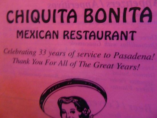 Bonita Mexican Restaurant Pasadena