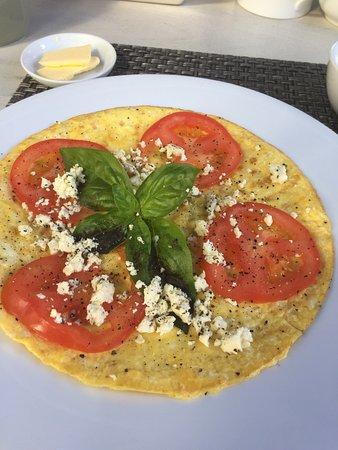 Cactus House : Frühstück alles frisch zubereitet im Cactus Guesthouse in Kapstadt