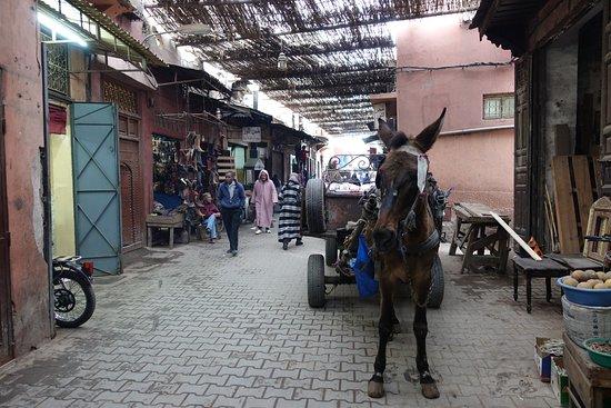 Riad Bahja: Rue Bab Doukkala near the hotel