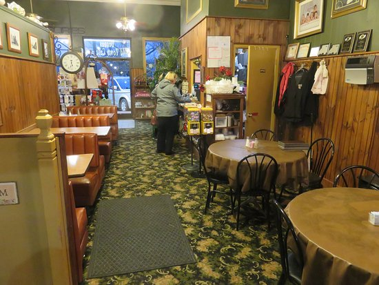 Madisonville, TN: View toward the front door at Donna's Old Town Cafe