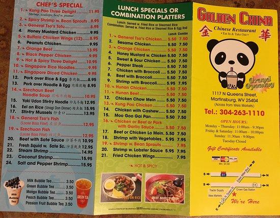 New China Restaurant Martinsburg West Virginia