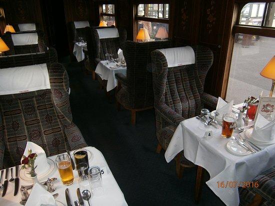 Tenterden, UK: Tables laid on the Wealden Pullman.