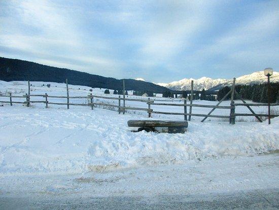 Tambre, Italië: Vista invernale del pianoro del Cansiglio.