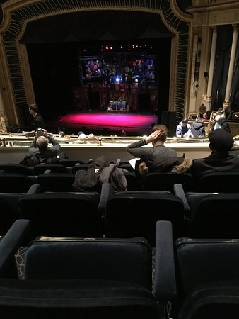 Ed Mirvish Theatre: Looking from seats to stage from Mezinine