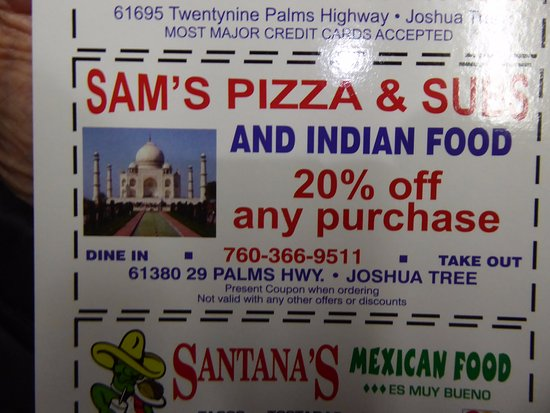 20 off coupon from high desert motel picture of sam 39 s for Aroma indian cuisine coupon