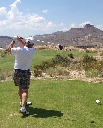 Elevated tee box LaJitas Golf Resort