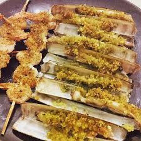 Capelonghe e spiedini di mazzancolle gratinati al forno for Spiedini di pesce gratinati