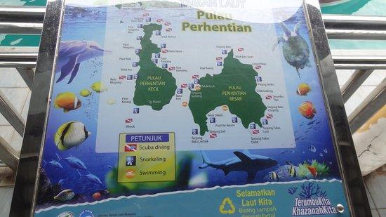 Terengganu, Malaysia: Carte Perhentians Islands