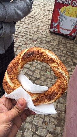 Sokullu Paşa Hotel: Street food, chewy bread just 1 TK